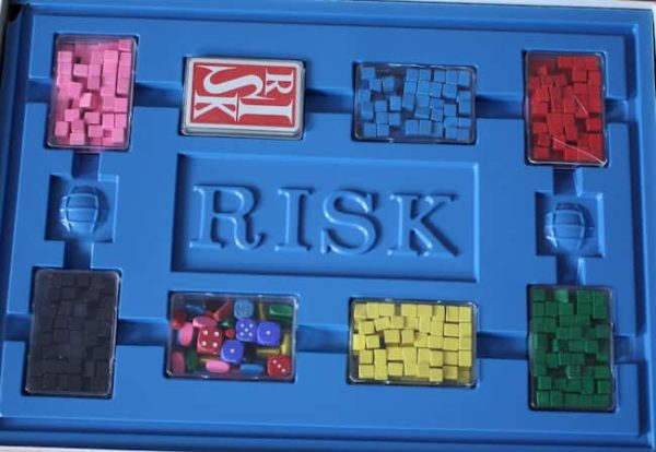 game pieces from a vintage french risk game by Miro